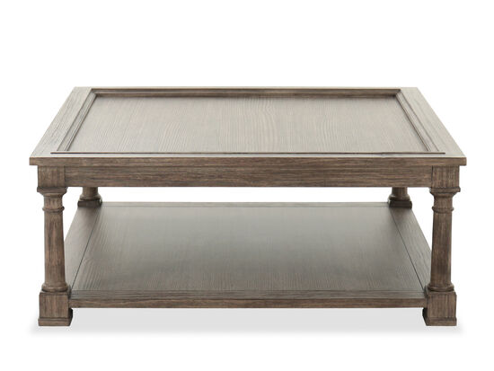 """44"""" Traditional Square Cocktail Table in Brown"""