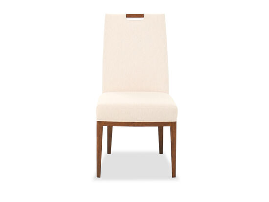 """Contemporary 40.5"""" Side Chair in Ivory"""