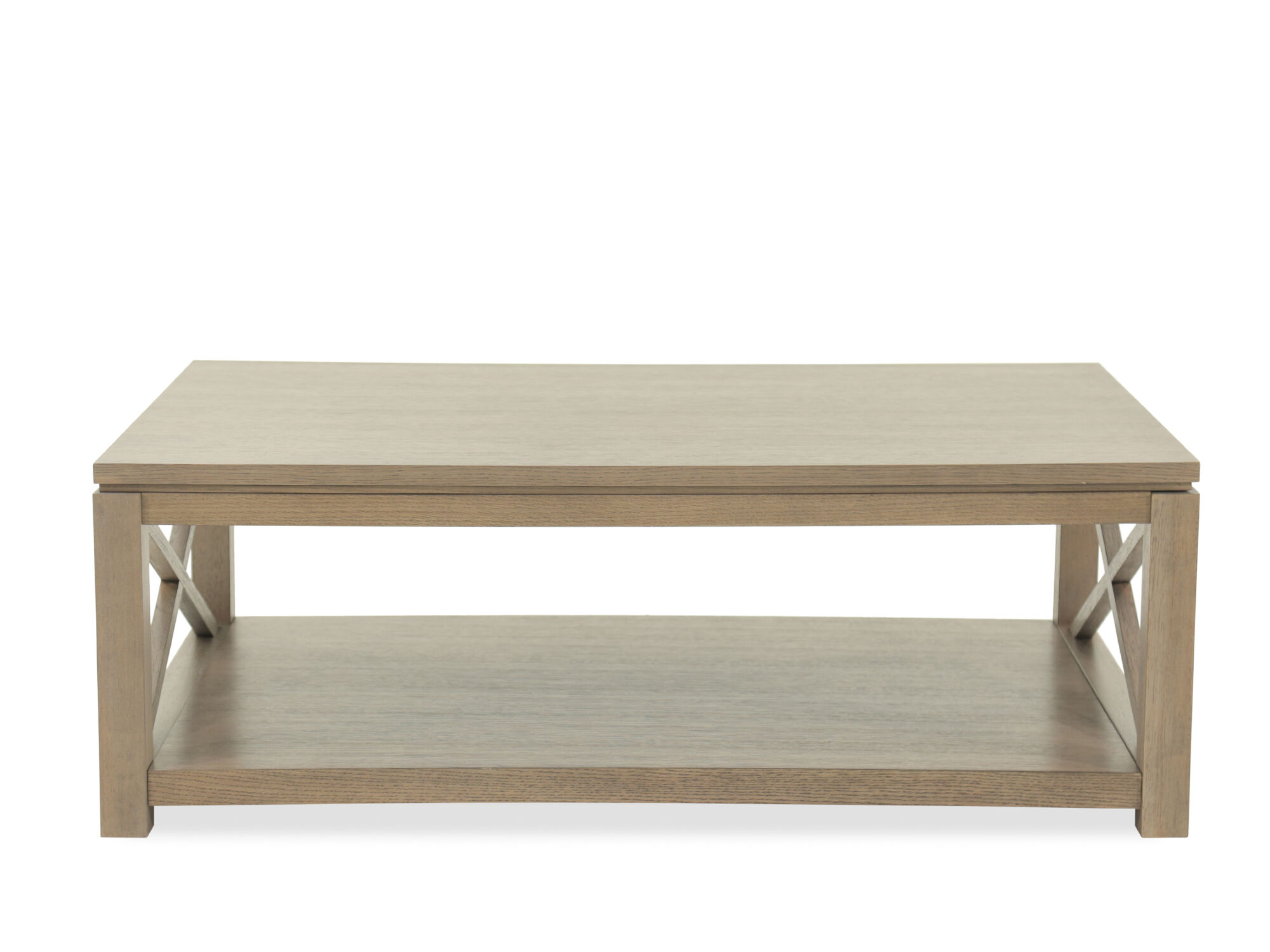 Rectangular Modern Cocktail Table In Light Brown Mathis Brothers