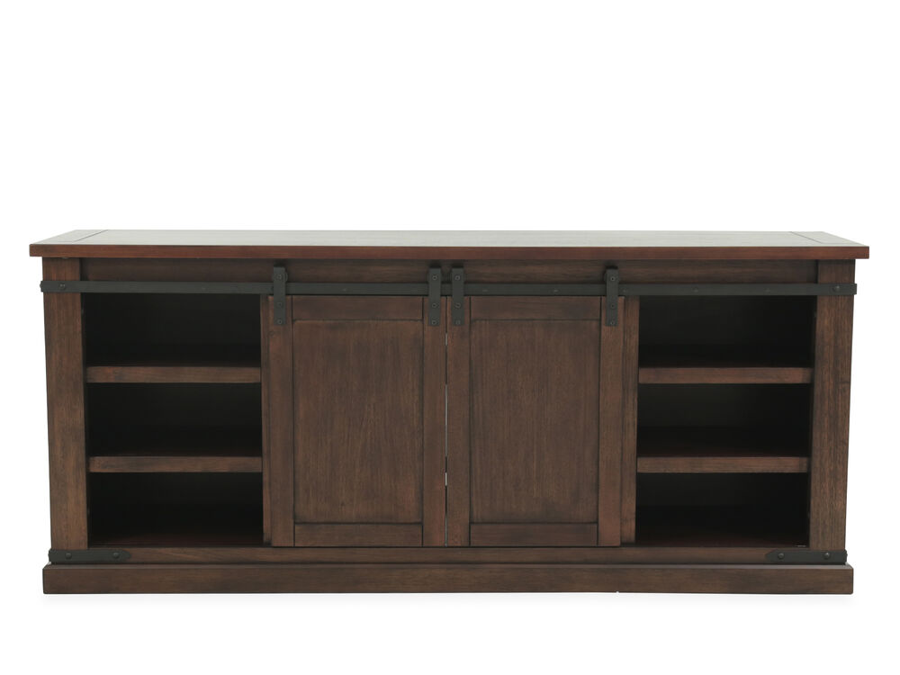 Sliding Barn Door Casual Tv Stand In Brown Mathis Brothers Furniture