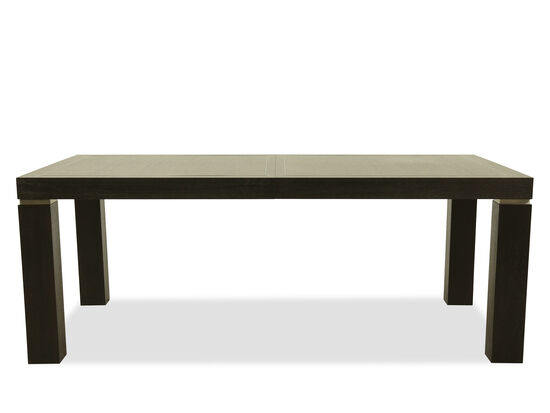 """Casual 80"""" to 104"""" Dining Table in Cerused Mink"""