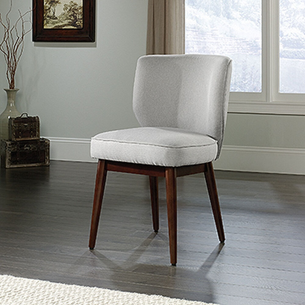 """Contemporary Wingback 22"""" Accent Chair in White"""