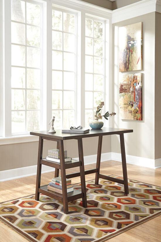 "42"" Trestle-Base Casual Small Desk in Medium Brown"
