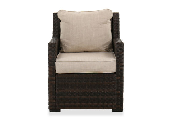 Aluminum Patio Lounge Chair in Brown