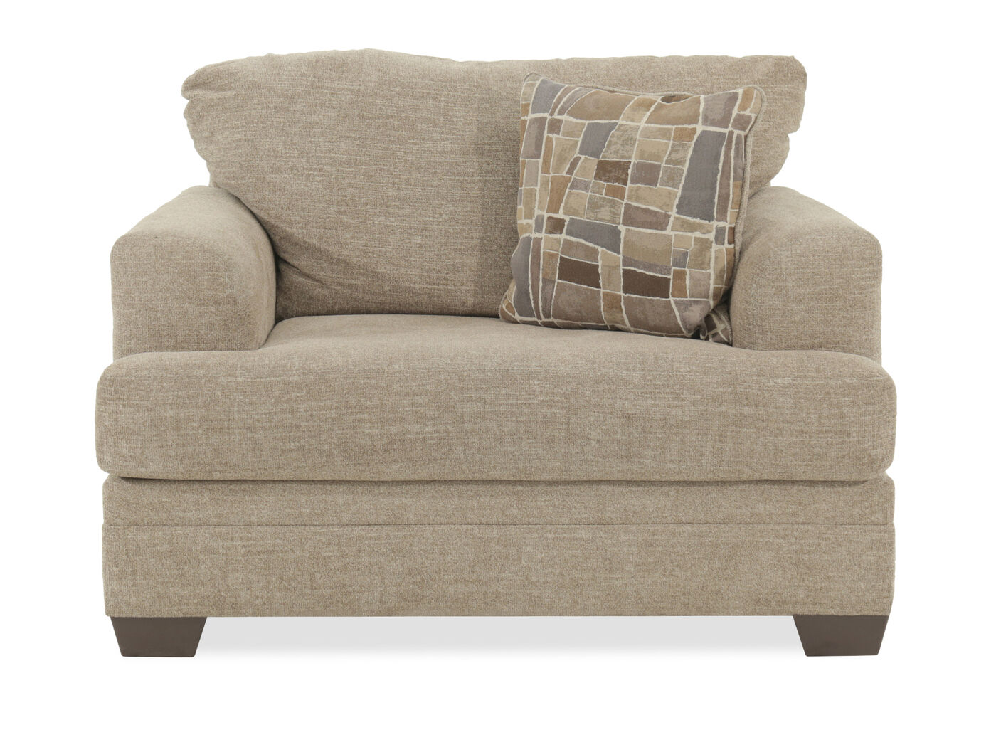 living room bench seating textured transitional 51 quot chair and a half in medium brown 12613