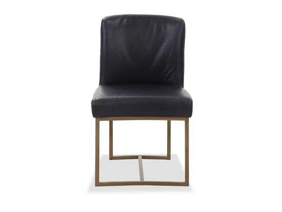 Casual Leather Side Chair in Blue