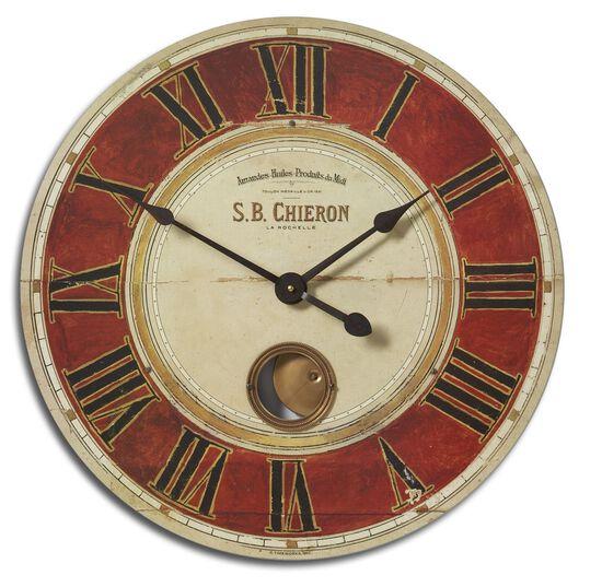 Weathered Round Pendulum Clock