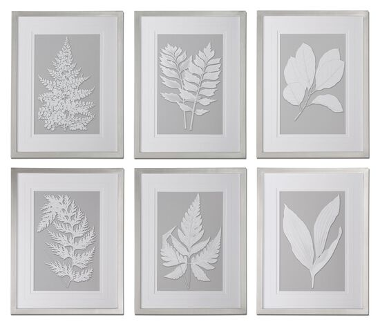 Six-Piece Ferns Printed Framed Wall Art Set