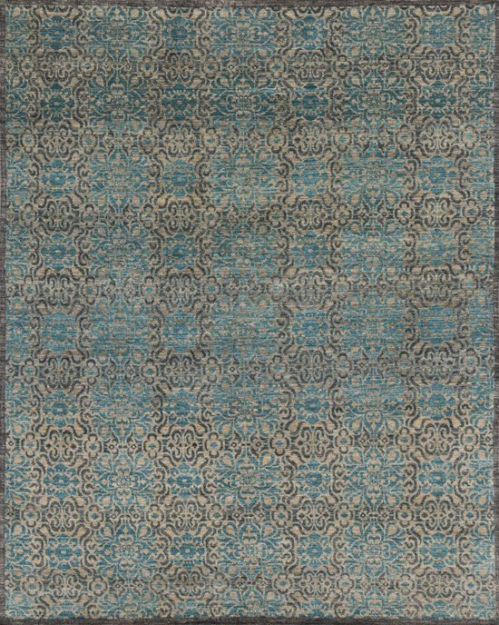 """Transitional 2'-6""""x14'-0"""" Rug in Twill/Blue"""