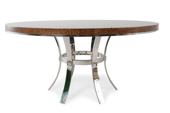 """Glam 60"""" Bouquet Pedestal Dining Table"""