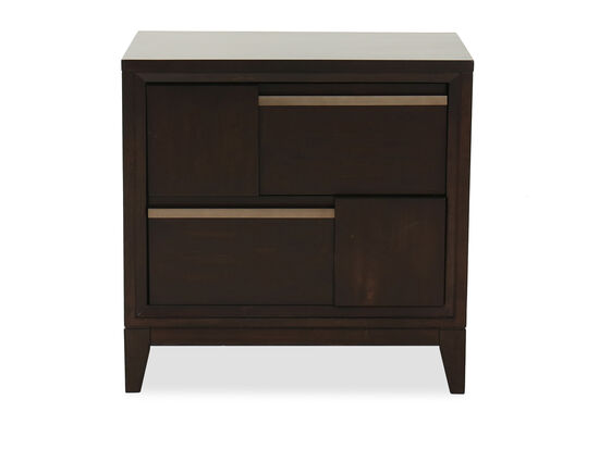 "29"" Contemporary USB Port Nightstand in French Roast"