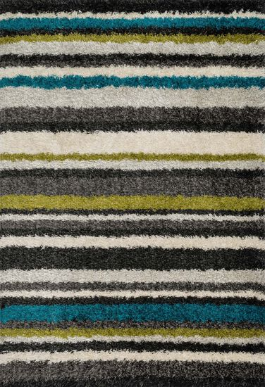 "Contemporary 3'-9""x5'-6"" Rug in Green/Multi"