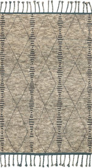 """Transitional 2'-0""""x3'-0"""" Rug in Stone/Blue"""