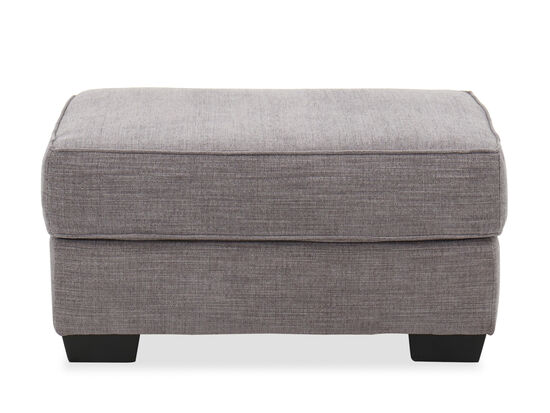 "Traditional 35"" Ottoman in Silver"