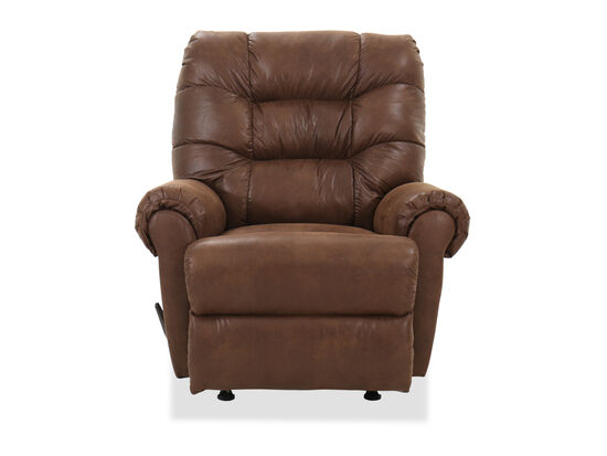 "Casual 40"" Rocker Recliner in Cognac"
