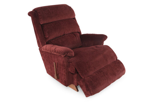 """Contemporary 37.5"""" Recliner in Dark Red"""