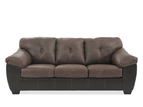 """Contemporary Tufted 90"""" Sofa in Coffee"""