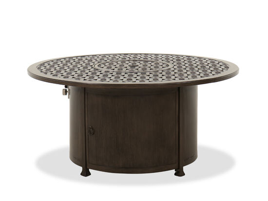 Traditional Round Fire Pit in Brown