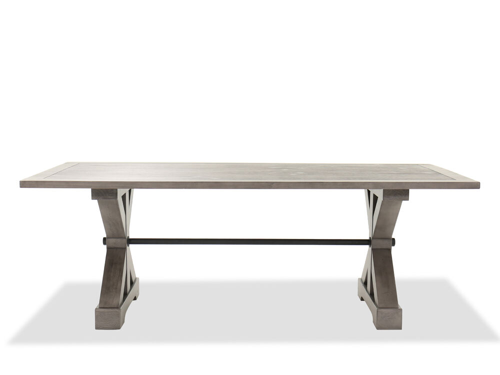 Traditional 84 Trestle Dining Table In