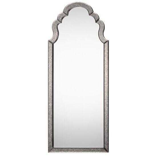 "62"" Hand Beveled Frame Arched Mirror"