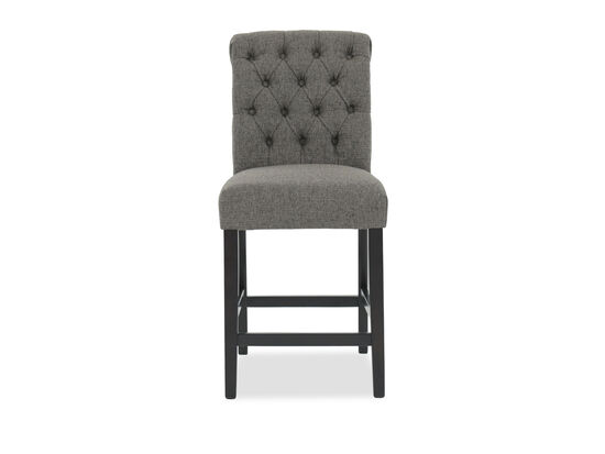 "Casual 39"" Button Tufted Bar Stool in Graphite"