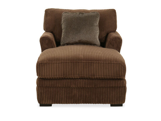 Quilted Casual Chaise in Brown
