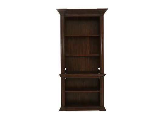 Traditional Open Bookcase in Tobacco