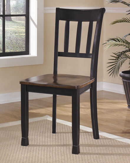 """Ladderback 18"""" Side Dining Room Chair in Black"""