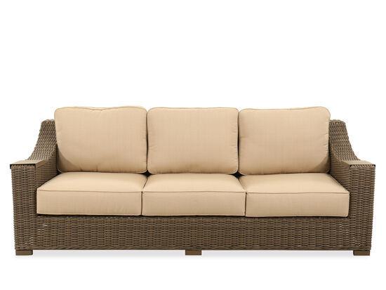 UV-Resistant Woven Sofa in Linen Champagne
