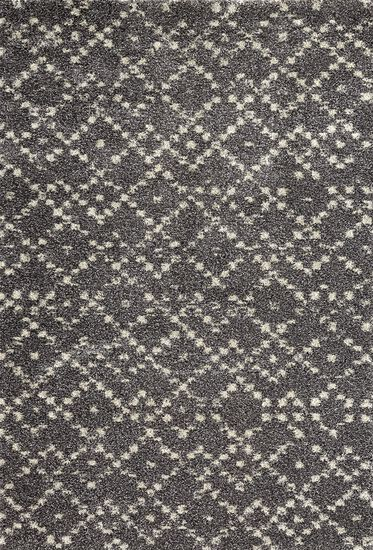 "Transitional 5' 3""x7' 7"" Imported Area Rug Rectangle Rug in Taupe"