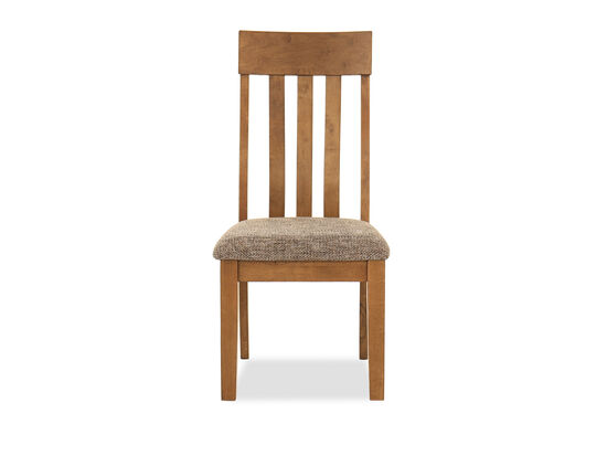 "40"" Casual Slat Back Side Chair in Light Brown"