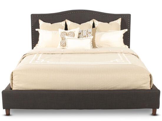 Ashley Kasidon Chocolate Nailhead Queen Bed