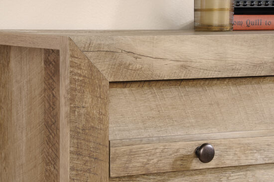 """43"""" Planked Four-Drawer Chest in Craftsman Oak"""