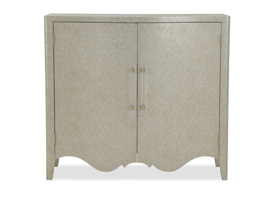 36'' Two-Door Casual Bar Cabinet in Silver