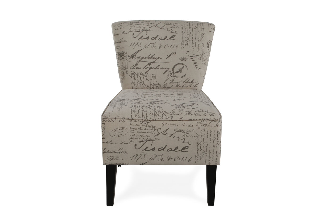 Script Printed Contemporary 22 Accent Chair Mathis