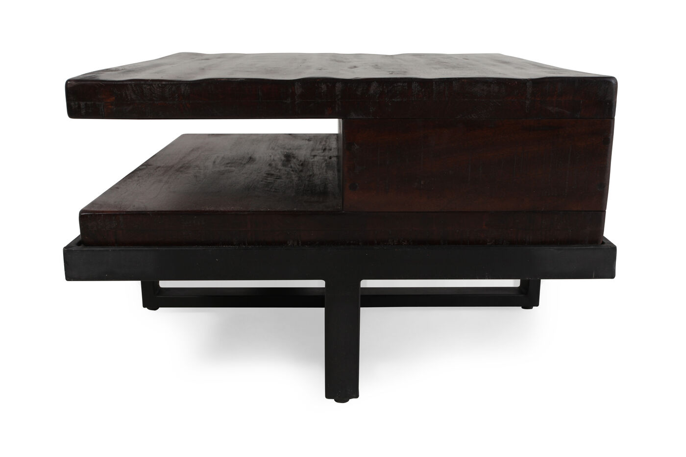 Contemporary Storage Cocktail Table in Dark Brown | Mathis ...