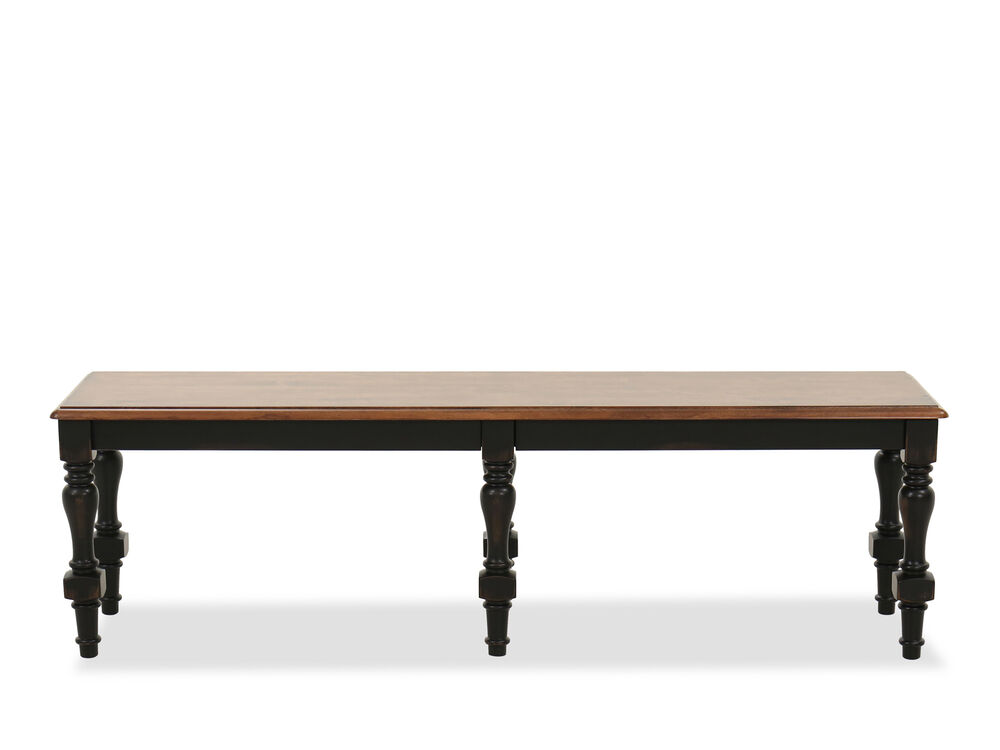 """Traditional 18"""" Dining Bench in Brown"""
