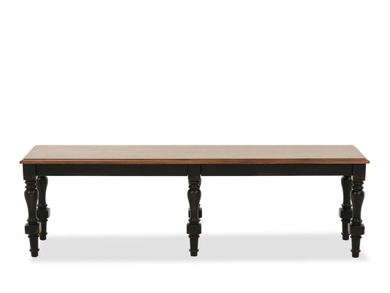 "Traditional 18"" Dining Bench in Brown"