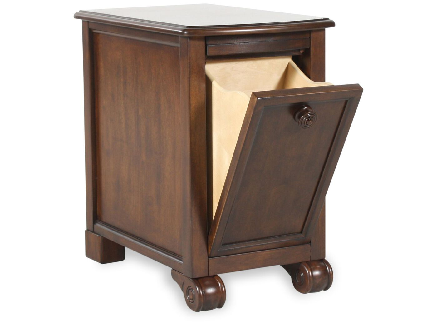 Super Rectangular Traditional Chairside End Table in Rustic Brown  YZ14