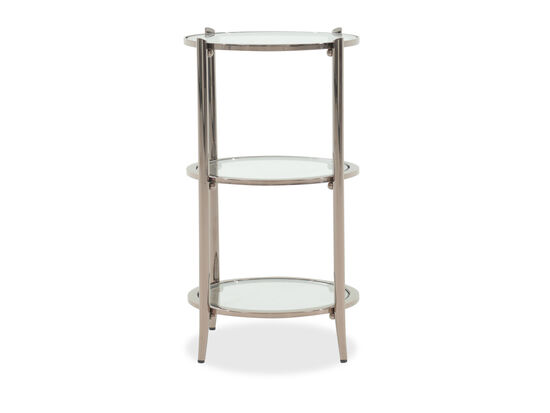 Three-Tier Modern End Table in Silver