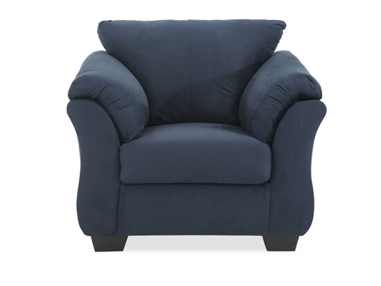 """Pillow-top Arm Contemporary 46"""" Chair in Blue"""