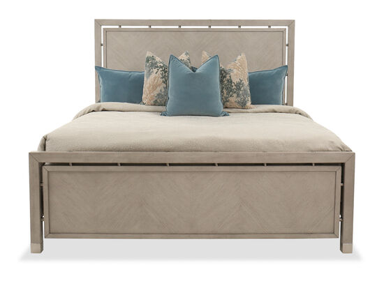 """65"""" Contemporary King Panel Bed in Grey Oak"""