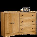 """30"""" Traditional Double Door Dresser in Highland Oak"""