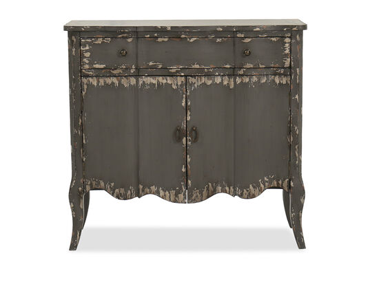 Two-Door Traditional Chest in Dark Gray