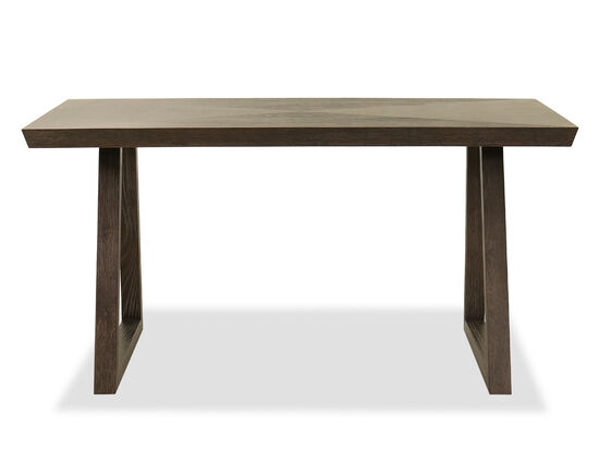 "60"" Transitional Writing Desk in Smoky Arabica"