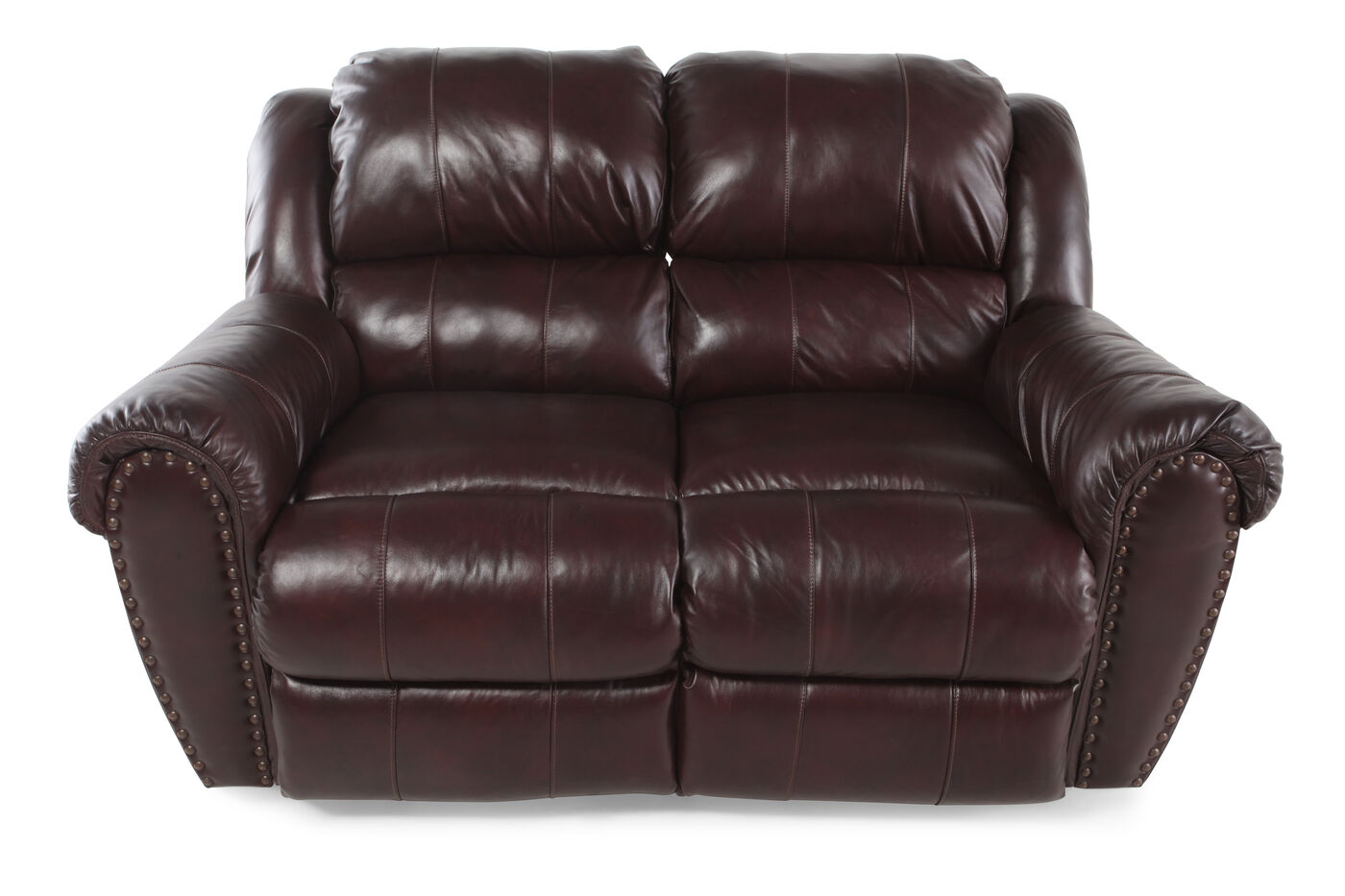 Power reclining traditional 66 loveseat in brown mathis for Furniture 66 long lane liverpool