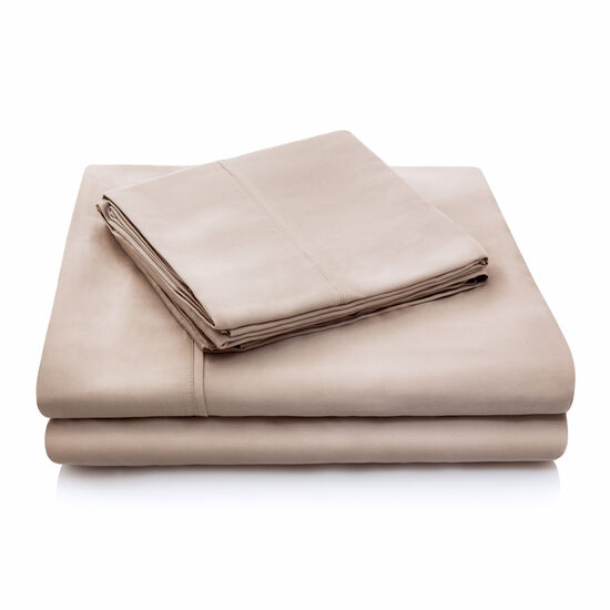 Malouf Tencel Queen Sheet Set in Ecru