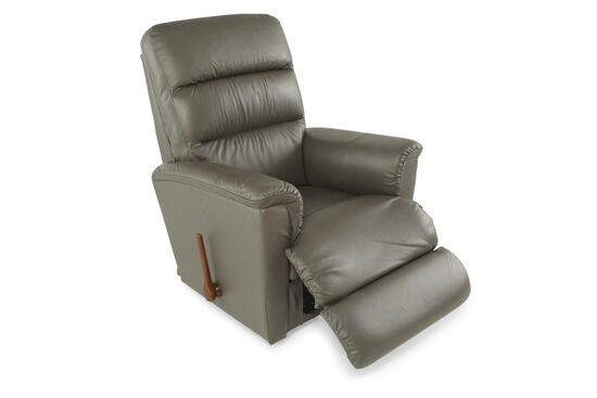 "Leather 34.5"" Recliner in Gray"