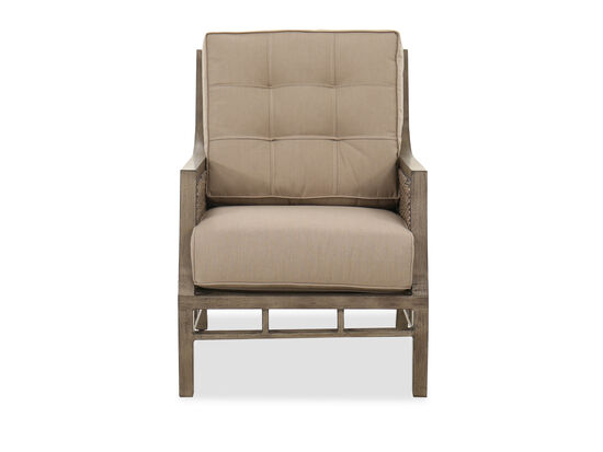 Weather-Resistant Aluminum Club Chair in Brown