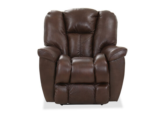 Leather 38'' Wall Recliner in Walnut